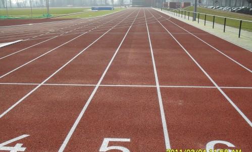 Atletiekbaan en infra Sportpark St. Theunis
