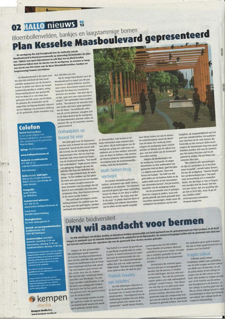 Krantenartikel Maasboulevard