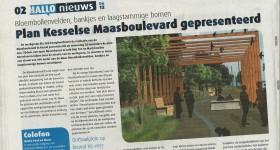 """HALLO"" schrijft over Maasboulevard Kessel"